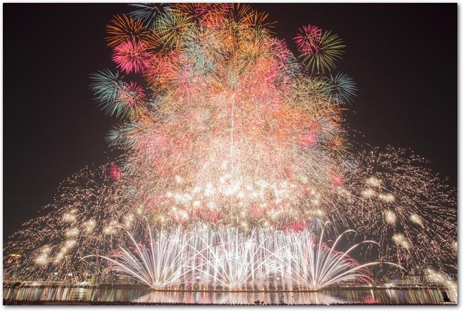 豪華絢爛な淀川花火大会のハイライト